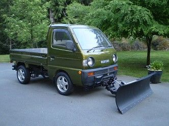 1992 suzuki carry 4x4 dumptruck snow plow | maintenance