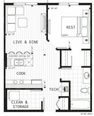 52 Creative Two Bedroom Apartment Plans Ideas Roundecor In 2020 Tiny House Floor Plans House Blueprints Tiny House Plans