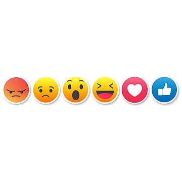 Facebook Button Set Of 6 Emoji Reactions Facebook Emoticon Like Png And Vector With Transparent Background For Free Download In 2021 Logo Design Free Templates Free Emoji Emoji
