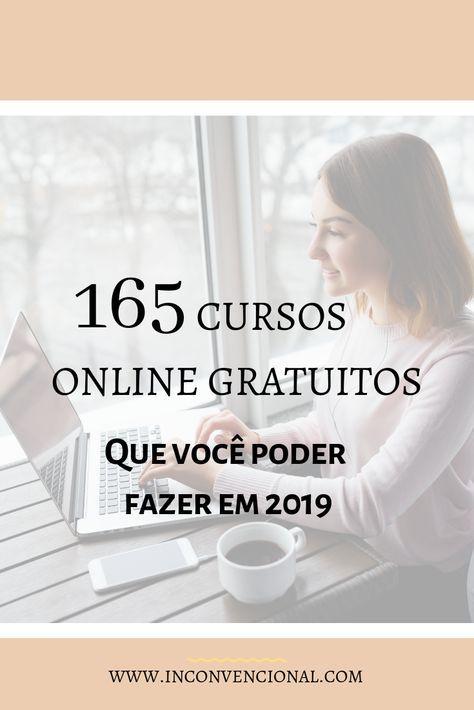 165 Cursos Online Gratuitos Em Portugues Cursos Gratuitos Com Certificado Cursos Online Cursos Online De Graca