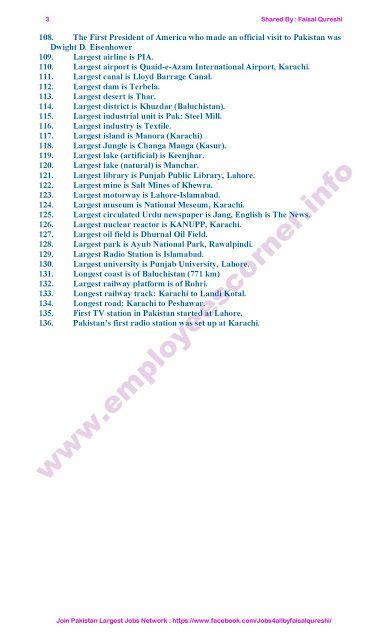 Pakistan General Knowledge MCQs | General knowledge | Past