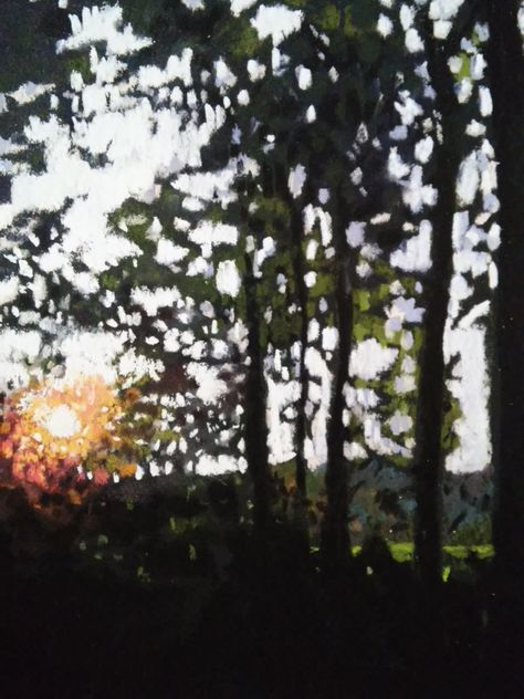 A T The End Of The Day 9x12 Soft Pastel On Colourfix Paper Sold Soyut