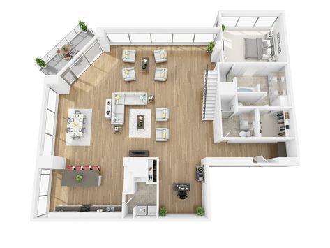 Watermarke Tower In Downtown Los Angeles Ca Is Now Offering One And Two Bedroom Apartments For Ren Apartment Floor Plans Apartment Floor Plan Apartment Layout