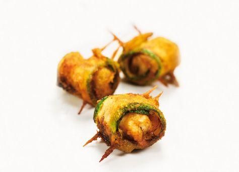 Un maridaje de la revista Cuina  para Maset del Lleó.             Ingredientes para 4 personas:   2 calabacines  12 lonchas de panceta a...