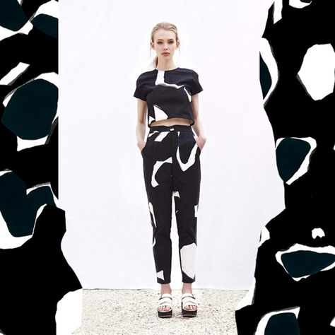 Black and white abstract print style Cassie Byrnes — The Design Files