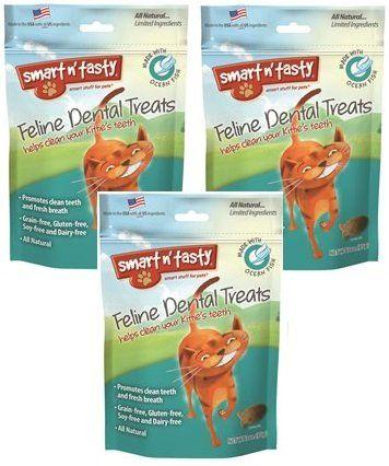3 Pack Smart N Tasty Cat Ocean Fish Dental Grain Free Treats 3 Ounce Each Dental Treats Dry Cat Food Grain Free