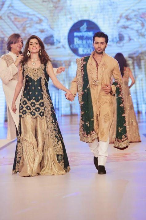 Fashion Glamour World: Fashion Dress Designer Rani Emaan Wedding-Bridal Collection at Pantene Bridal Couture Week 2014