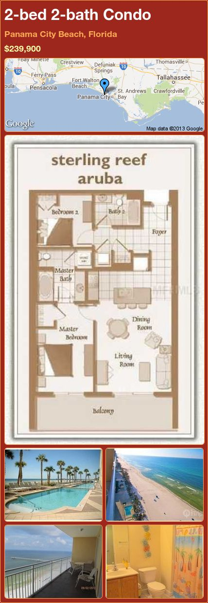 2Bed 2Bath Condo In Panama City Beach Florida $239900 Fascinating 2 Bedroom Condos In Panama City Beach Design Ideas