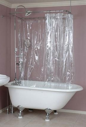 Where To Find Clawfoot Tub Shower Curtains Clawfoot Shower