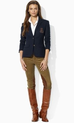 I love the preppy blazer and the stylized riding breeches. I love playing dress up and being able to wear it out :)