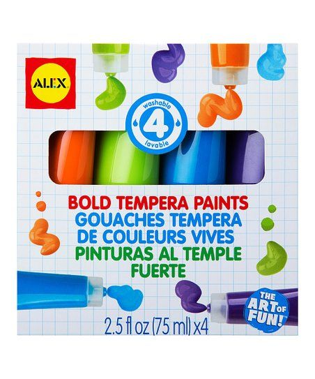 This Set Of Colorful Tempera Paints Is Appropriate For Artists Of All Ages Paint Set Alex Toys Tempera Paint