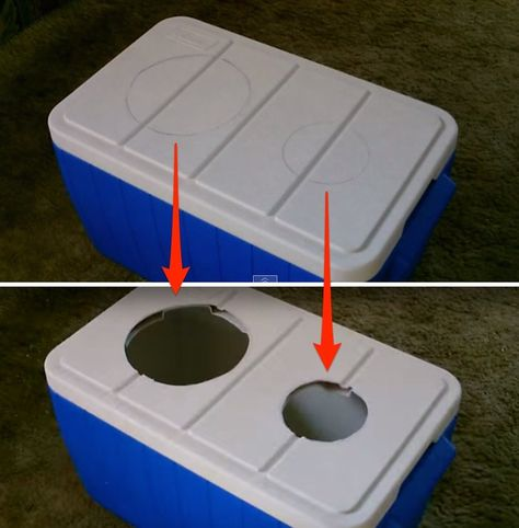 holes! homemade air conditioner