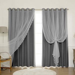 Simple Chic Light Gray And White Priscilla Sheer Curtains Romantic Room White Curtains Living Room Living Room Decor Curtains Curtains Living Room