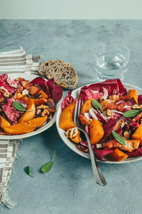 Une salade hivernale toute en couleur et en gourmandise ! #salad #foodphotography