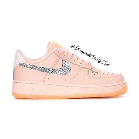 Swarovski Women's Nike Air Max Thea Pink Shimmer Sneakers