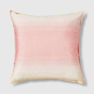 Everly Quinn Martello Square Silk Pillow Cover Insert In 2021 Silk Pillow Cover Silk Pillow Dyed Pillows