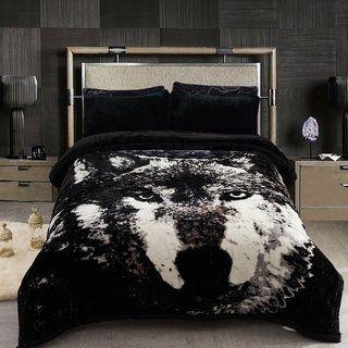 Fleece Blanket 2 Ply Printed Pattern Korean Mink Winter Weighted