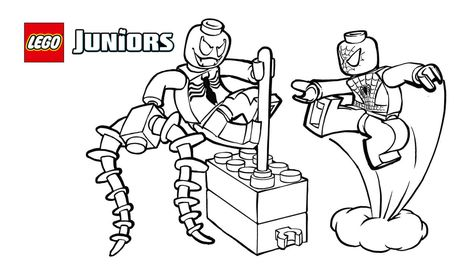 Smart Design Lego Coloring Pages Spiderman Vs Shazam Cyborg
