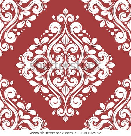 Red And White Damask Vector Seamless Pattern Wallpaper Elegant Classic Texture Luxury Ornament Royal Victoria Seamless Patterns White Damask Red And White
