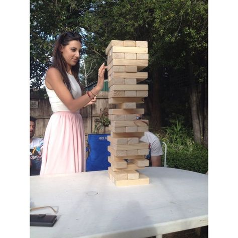 54 Piece Giant Jenga Outdoor Wooden Block Game 63cm