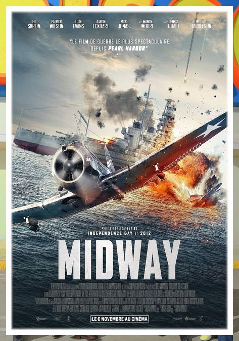 Midway Movie Poster Inches Shipped