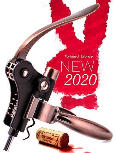 Premium Manual Corkscrews for All Wine High End Wine Bottle Opener Corkscrew in Linen Pouch Unibloom Rose Gold Wine Opener Safe Ergonomic Winged Design Prosecco /& Beer Bottles Fancy Gift Set