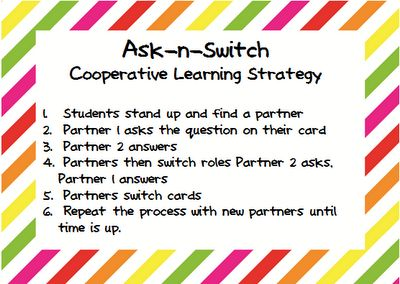 Ask-n-Switch cooperative learning strategy