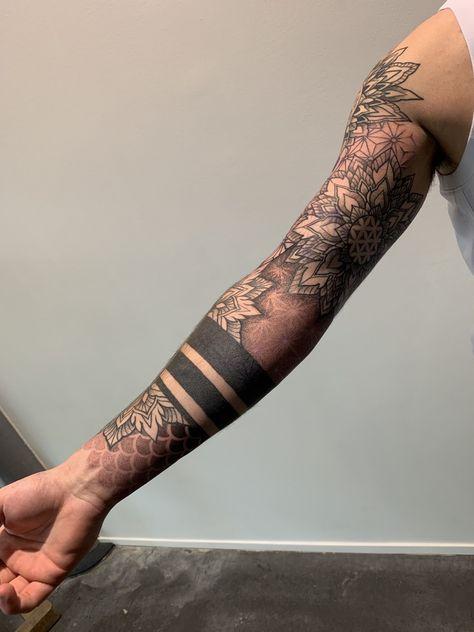 Sleeve and Hand Tattoos