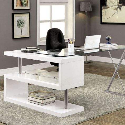 Diese 20 Glas Top Desk Wird Ihre Home Office Revamp Starten Schreibtisch Weiss Schreibtisch Modern Und Design Schreibtisch