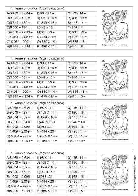 So Continhas 4 Operacoes Atividades De Matematica Matematica Atividades De Matematica Divertidas