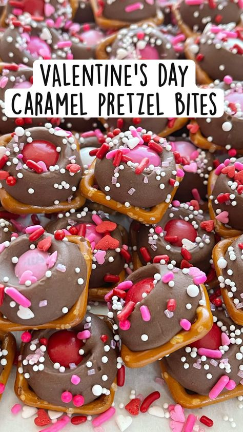 VALentine's day  Caramel pretzel bites