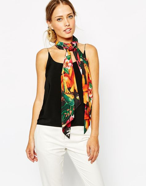 f7bb22980f7b2 Ted Baker Tropical Toucan Skinny Scarf £35.00