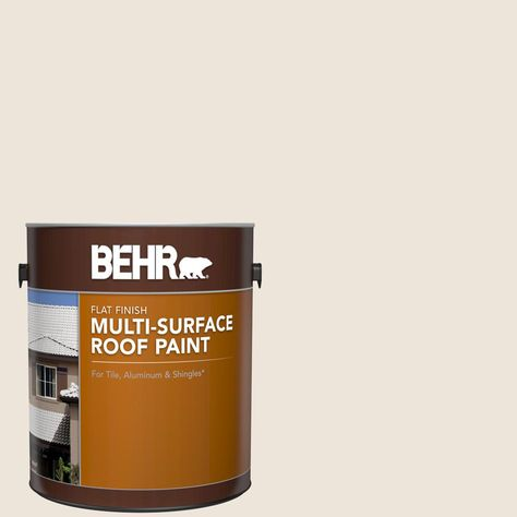 Behr 1 Gal Ms 32 Glacier White Flat Multi Surface Exterior Roof Paint Roof Paint Spanish Tile Roof Sealant