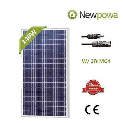 Newpowa 175w Watt Monocrystal Solar Panel 12v Battery Rv Off Grid Complete Kit Ebay In 2020 Solar Energy Panels Best Solar Panels Solar Power Panels