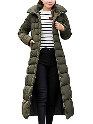 Wofupowga Mens Long Quilted Thickened Winter Windbreaker Hooded Overcoats Parkas Coats