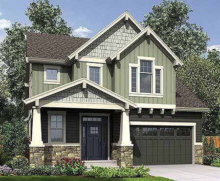 Deceptively Spacious Craftsman House Plan - 69586AM   Craftsman, Northwest, Narrow Lot, 1st Floor Master Suite, CAD Available, Loft, PDF   Architectural Designs