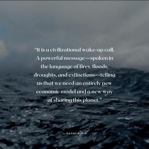 Naomi Klein Sustainability Capitalism Quote