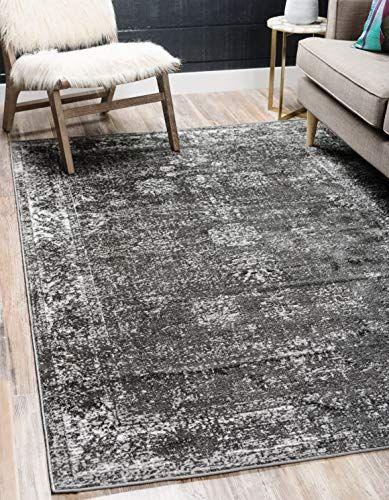 Unique Loom Sofia Traditional Area Rug 5 0 X 8 0 Dark Gray Domov