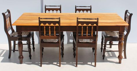 Condition Used 7 Piece Imbuia And Yellow Wood Dining Room Suite