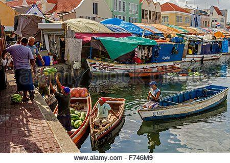 La Carga De Melones En El Barco De Willemstad Curacao Antillas Holandesas Sudamerica Curazao