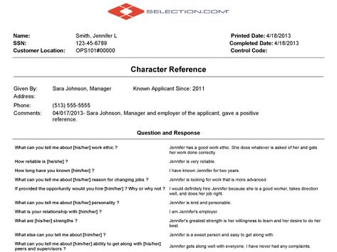 Sample Character Reference Letter Template Check out this - character letter