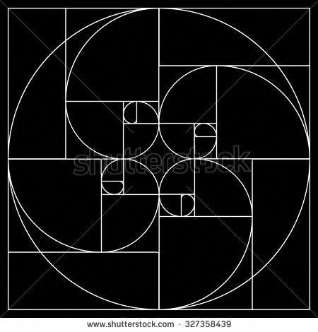 Golden Rectangle Stock Vectors Vector Clip Art Shutterstock Geometry Art Geometric Art Sacred Geometry Art
