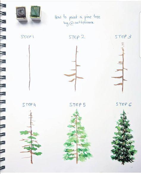 Evergreen Tree Sketch Christmas Cards 30 Ideas Tree