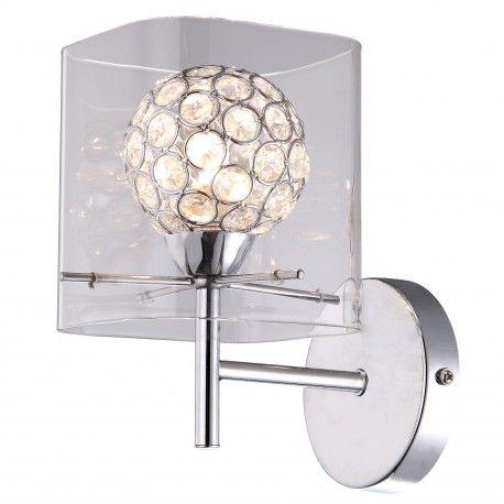 Kinkiet Scienny Spark Transparentna Lampa Scienna G9 Spot Srebrny Lampy Lampa Scienna Kinkiety