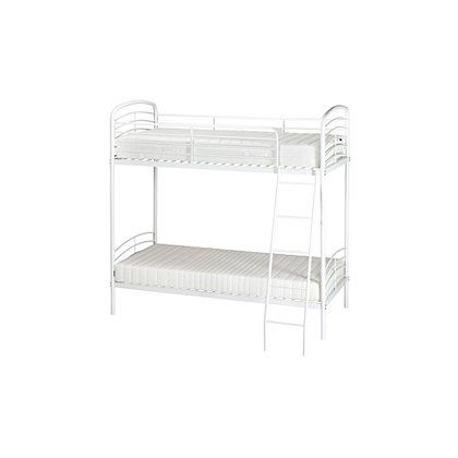 George Home Metal Detachable Bunk Bed White Beds George At