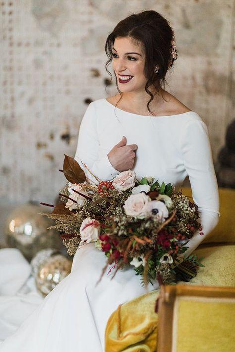 Italian Wedding Styling Shoots ❤ italian wedding styled shoot beautiful bride with bouquet moody makeup accessories pink flowers simple white dress edoardo giorio photography #weddingforward #wedding #bride #weddingbouquets