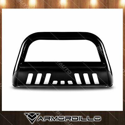 For 06 10 Hummer H3 3 Bull Bar Black Push Bumper Grille Bull Guard W Skid Plate In 2020 Bull Bar Hummer Grilles