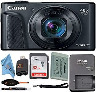 Canon Powershot Sx740 Hs Digital Camera Black With Sandisk 32gb Card Zeetech Accessory Kit In 2020 Digital Camera Powershot Buying Camera