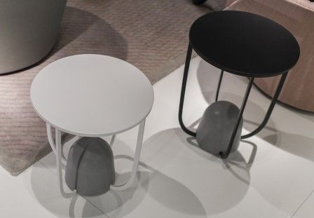 W8 Tables Alain Gilles For Ligne Roset Side Table Metal Stone Pierre Concrete Beton Mass Weight Design Furniture Mobilier Tot Table Coffee Table Ligne Roset