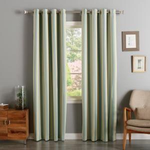 Best Home Fashion 63 In L Room Darkening Vertical Stripe Curtain